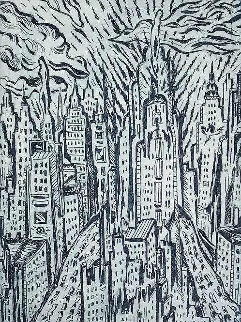 STREETS OF NEW YORK - BLACK AND GREY, E.A.