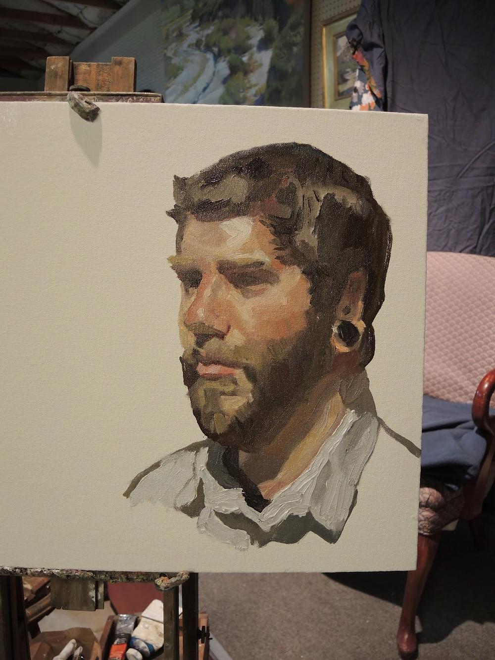 "Peggi Kroll Roberts, ""Brandon"" Life Size -oil portrait"