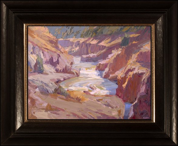 """""""KLICKITAT LATE AFTERNOON"""" - AVAILABLE - Oil painting by Carole Gray-Weihman - Custom Frame made by Alfa Frameo"""