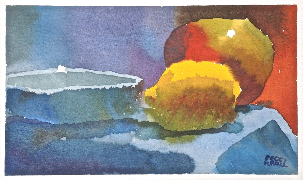 "Peggi Kroll Roberts, ""Of course I work in watercolor too!"""