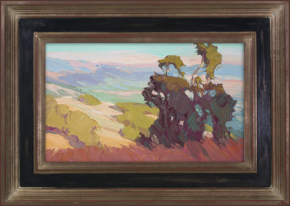 """""""MOUNTAIN VISTA LIGHT"""" - SOLD - Oil painting by Carole Gray-Weihman - Frame by Masterworks Frames"""