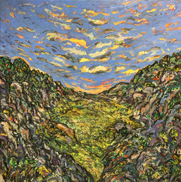 THE RAVINE, Oil painting By David Sandum 2015-18