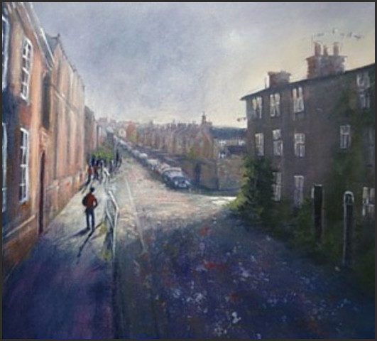 Long Row Belper Ruth Gray Acrylic on box canvas 60 x 60 cm