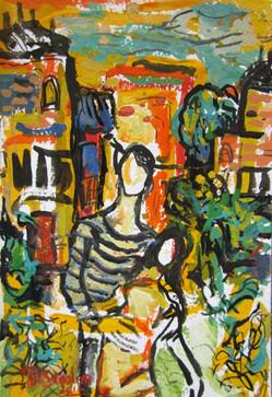 The Bohemian - Gouache By David Sandum