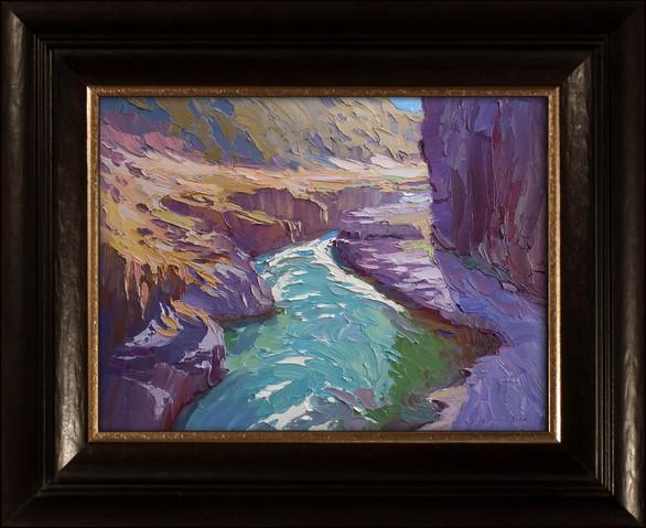 """KLICKITAT GRANDEUR"" - SOLD - Oil painting by Carole Gray-Weihman - Custom Frame made by Alfa Frameo"