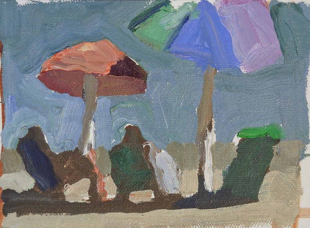 The umbrellas were up and some of those color relationships are so hard to capture.