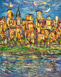 CITY AFTERNOON, Oil painting By David Sandum 2016