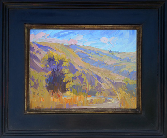 """""""BATHED IN LIGHT"""" - SOLD - Oil painting by Carole Gray-Weihman - Frame by Masterworks Frames"""