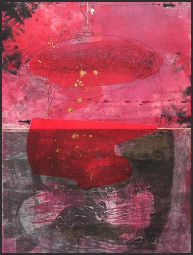 """Fiery Crash"", by Karin Bruckner - Twitter Art Exhibit"