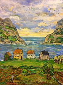 Beach Colony, Oil painting by David Sandum