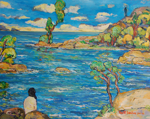 The Conversation, Oil painting by David Sandum