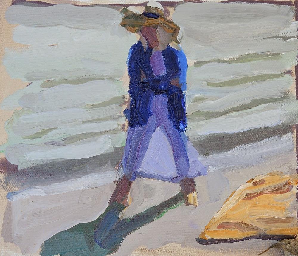 Peggi Kroll Roberts, figure on the beach