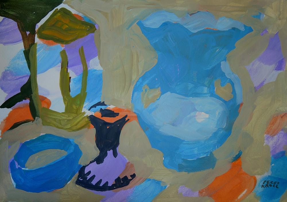 """""""Turquoise Vase"""" 11"""" x 14"""""""