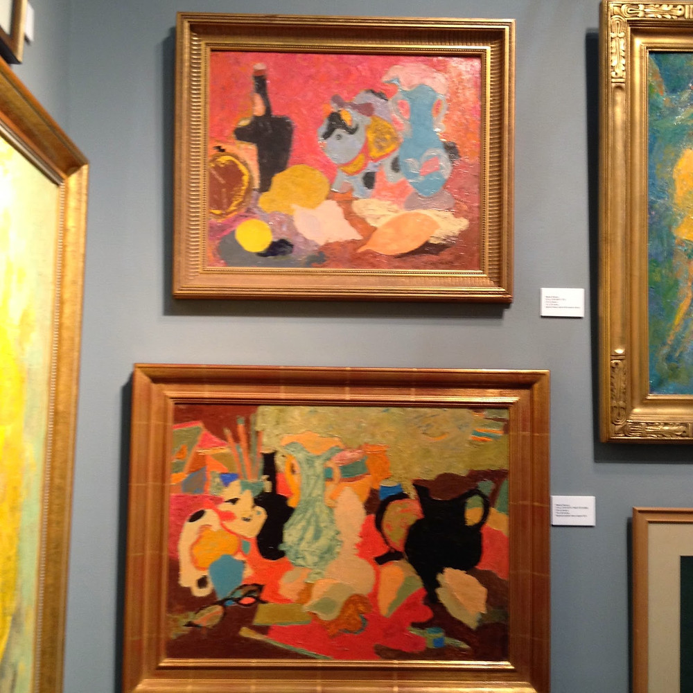 """Peggi Kroll Roberts, """"And these charming still lifes by Mabel Alvarez. Saw these at the L.A. Art Convention."""""""