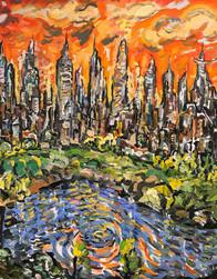 THE SWIRL, Oil painting By David Sandum 2016-18