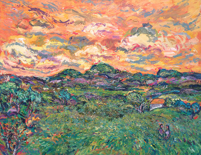 Lovers in the Field, Oil painting by David Sandum