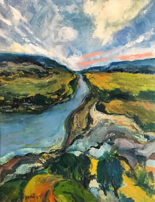 The Stream, Oil painting by David Sandum