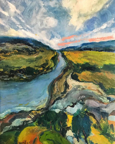 The Stream, Oil painting by David Sandum