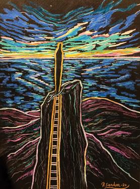 STARING AT THE NORTH STAR by David Sandum