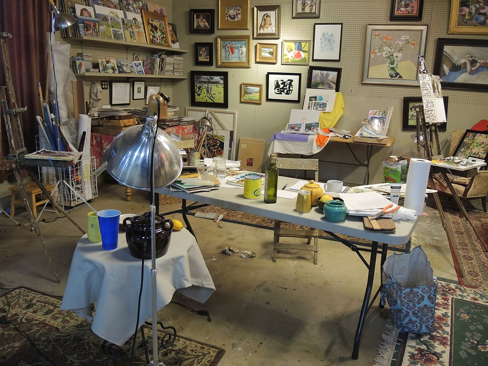 Peggi Kroll Roberts, our messy studio