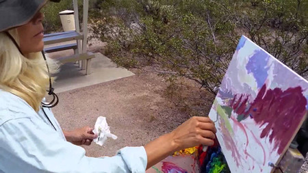 Painting the Superstition Mountains