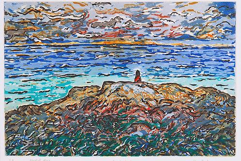 ALONE BY THE SEA - SUNDOWN
