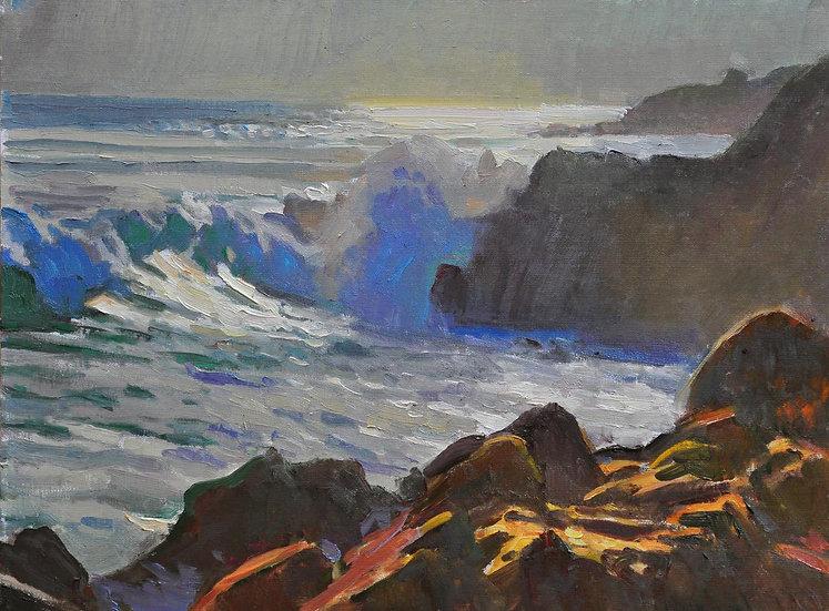 Crashing Waves at Pacific Grove