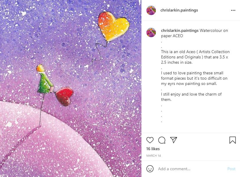 Chris Larkin on Instagram