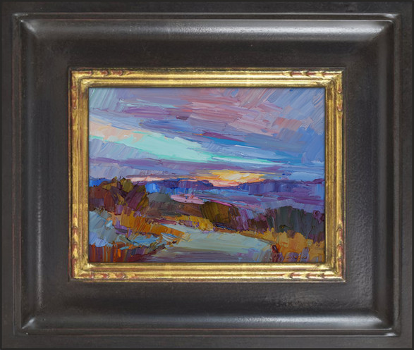 """""""TEXAS SUNSET"""" - SOLD - Oil painting by Carole Gray-Weihman - Frame by Masterworks Frames"""