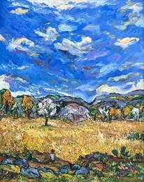 LANDSCAPE #1, Oil painting By David Sandum