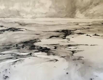 "© 2016, Kylie Fogarty, ""Beach View II"" - Twitter Art Exhibit"