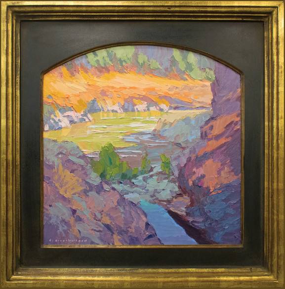 """""""AFTERNOON ON THE KLICKITAT"""" - SOLD - Oil painting by Carole Gray-Weihman - Frame by Masterworks Frames"""