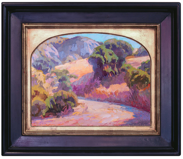 """""""LATE AFTERNOON IN LAGUNA CANYON"""" - SOLD - Oil painting by Carole Gray-Weihman - Frame by Masterworks Frames"""