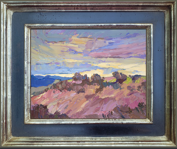 """""""CARMEL VALLEY COLOR"""" - AVAILABLE - Oil painting by Carole Gray-Weihman - Frame by Masterworks Frames"""