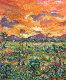 GAUGUIN'S TAHITI, Oil painting By David Sandum