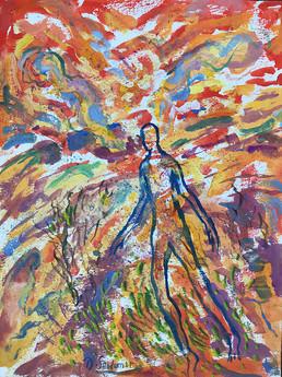 WALKING IN SPIRIT - Gouache By David Sandum