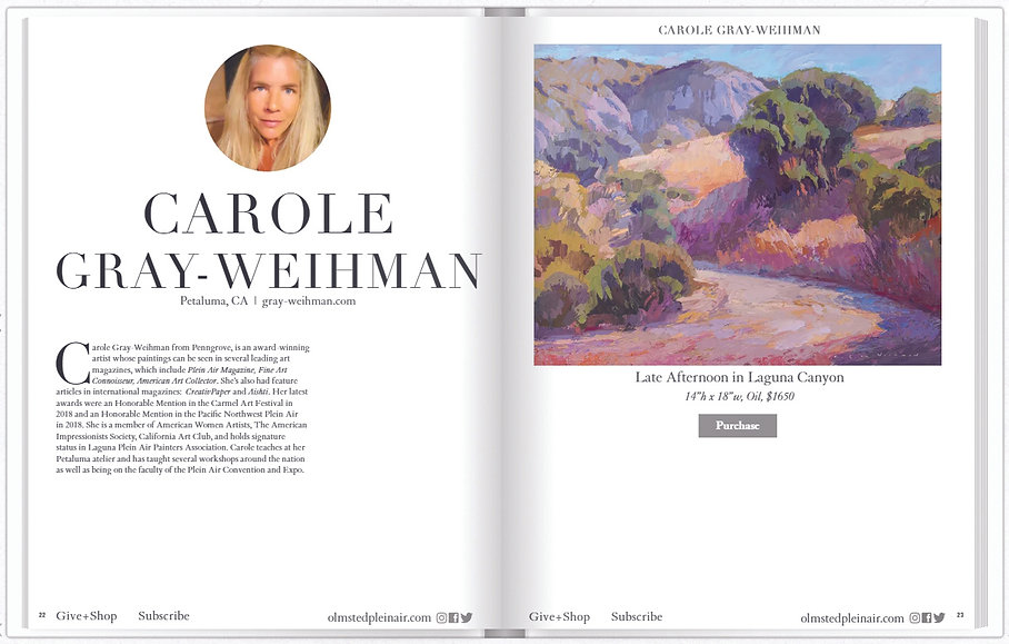 reIMAGING - Olmsted Plein Air Invitational Collectors Preview with Carole Gray-Weihman