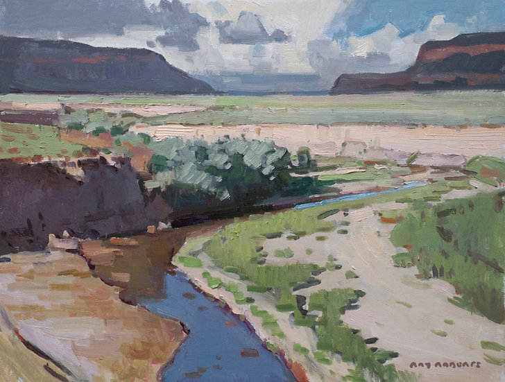 Early Summer Clouds Near Gallup - 12in x 16in