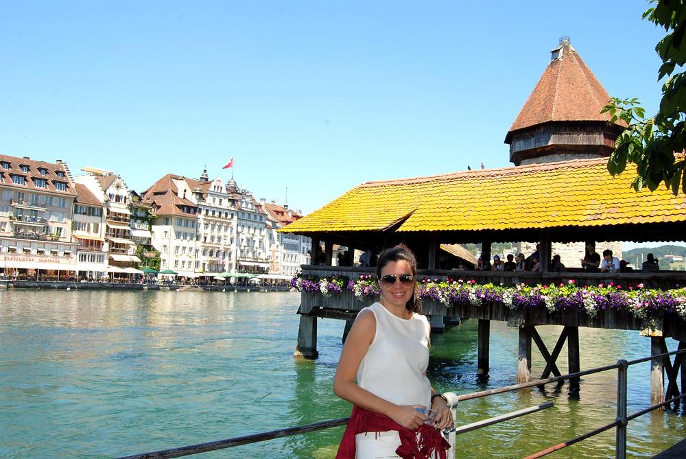 Kapellbrücke - Ponte da Capela - Lucerna - Suíça