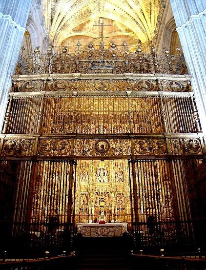 Capilla Mayor Retablo - Catedral de Sevilha - Espanha