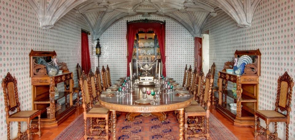 Sala de jantar - Palácio da Pena - Sintra - Portugal