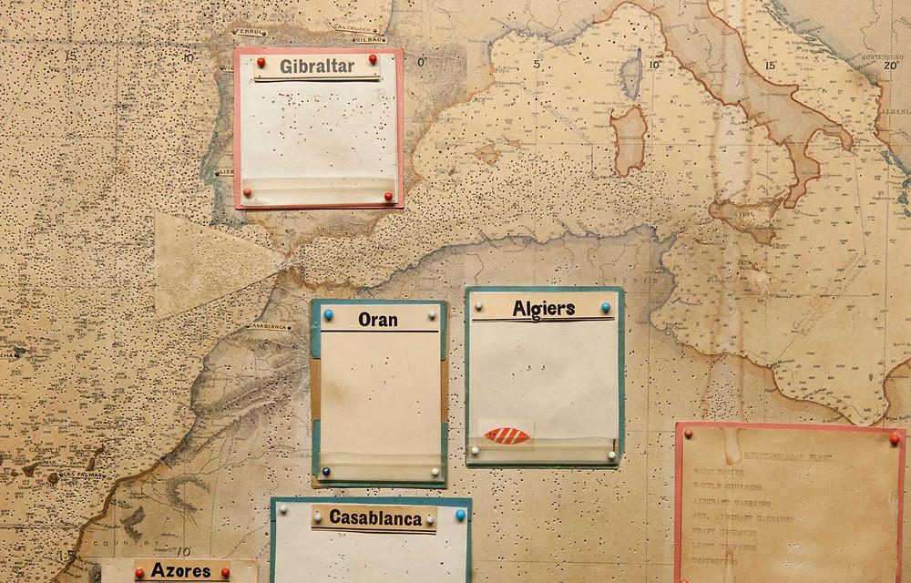 Churchill War Rooms - map