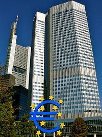 Euro Tower European central bank euro frankfurt germany