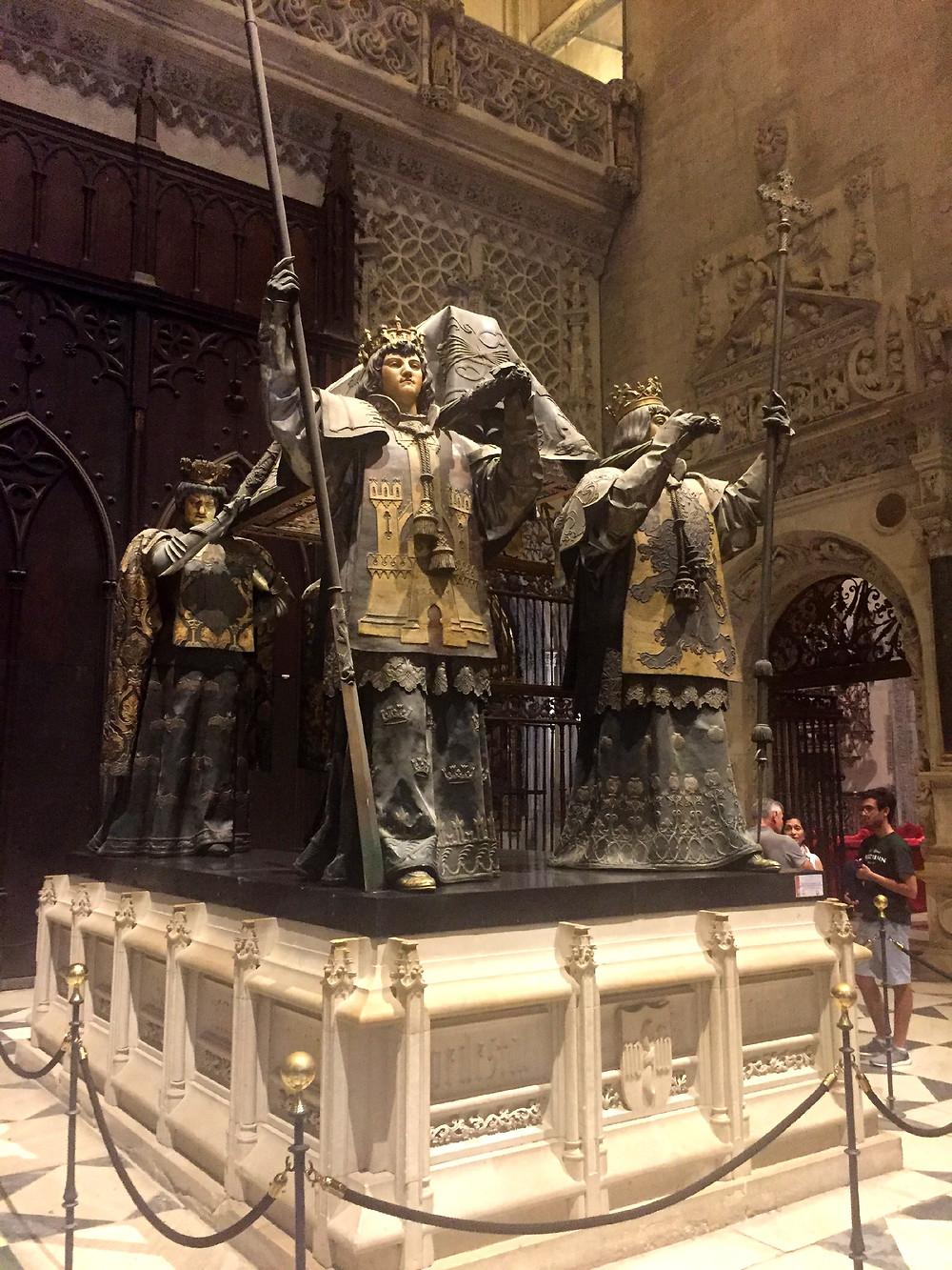 Túmulo de Cristovão Colombo - Catedral de Sevilha - Espanha