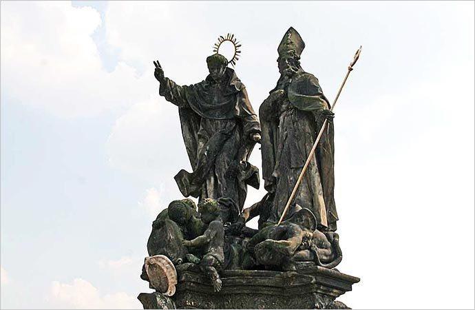 São Vicente Ferrer e São Procópio - Ponte Carlos - Praga - República Tcheca