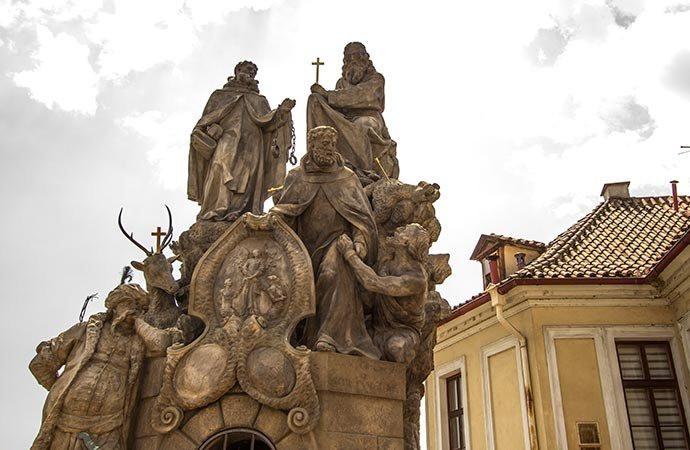 São João da Mata, Félix de Valois e Santo Ivan - Ponte Carlos - Praga - República Tcheca