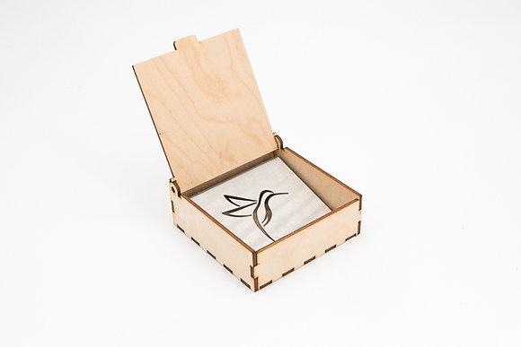 Porte-savon dans sa boîte en bois