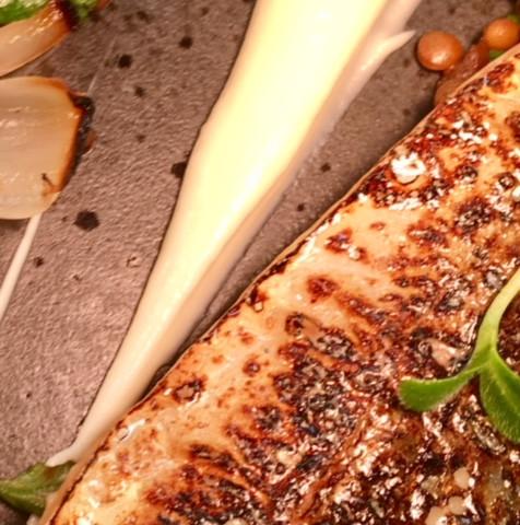 Mackeral dish close up