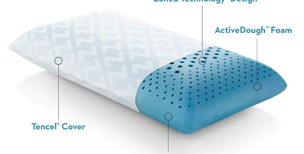 Zoned Dough® Cooling Gel Pillow