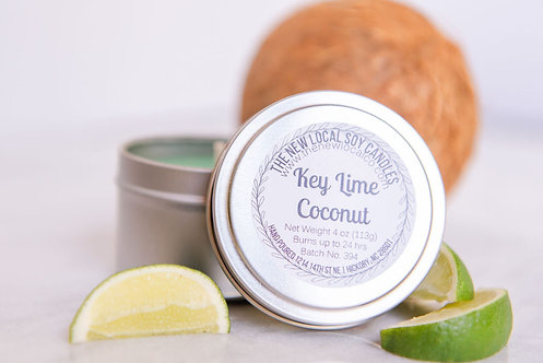 Key Lime Coconut 4 oz Candle Tin